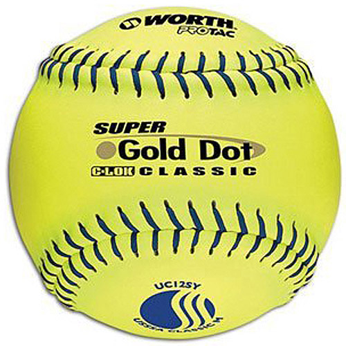"Worth Protac Official USSSA Men'S Super Gold Dot Slowpitch Softball-12"" - 1 Dozen"