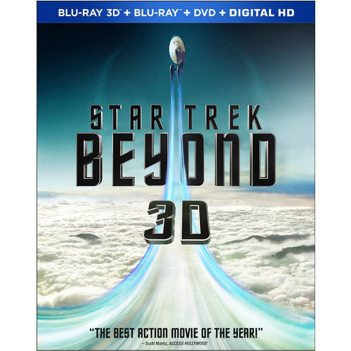 Star Trek Beyond (3D Blu-ray + Blu-ray + DVD + Digital HD) (Walmart Exclusive)