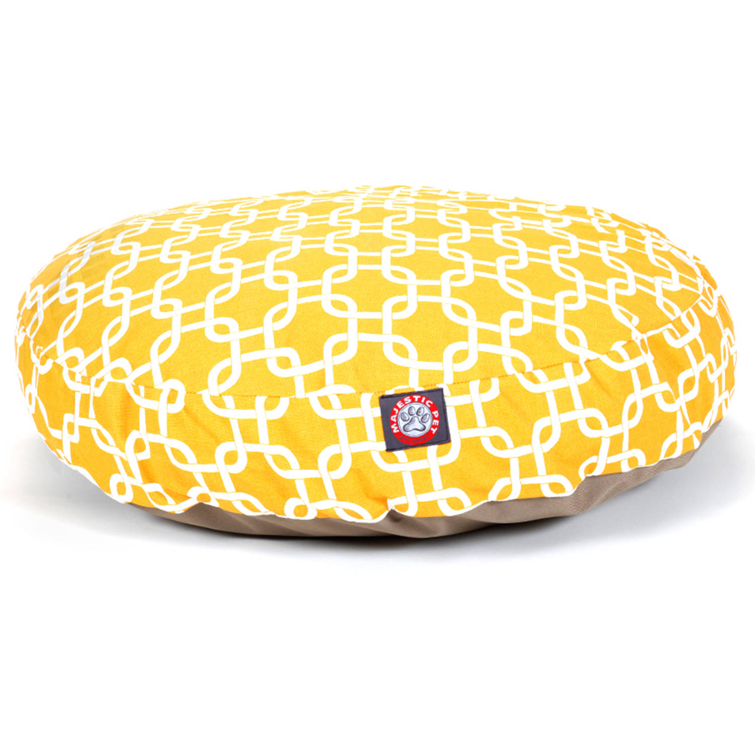 Majestic Pet Links Small Round Outdoor Indoor Pet Bed Removable Cover