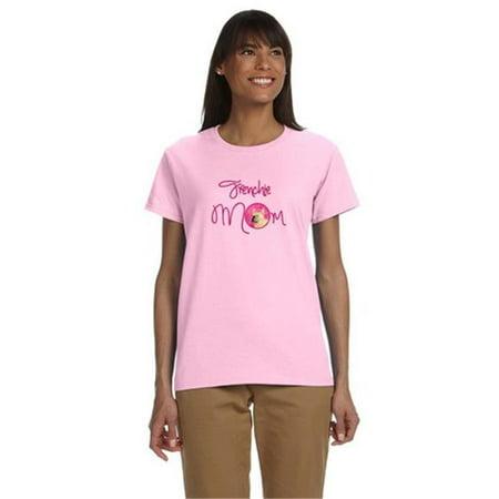 Carolines Treasures SS4761PK-978-M Pink French Bulldog Mom T-Shirt Ladies Cut Short Sleeve, Medium - image 1 of 1