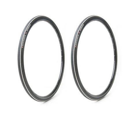 Hutchinson Intensive Tubeless Folding Reinforce Road Bike Tires, 2-Pack, (Best 700x25 Road Bike Tire)