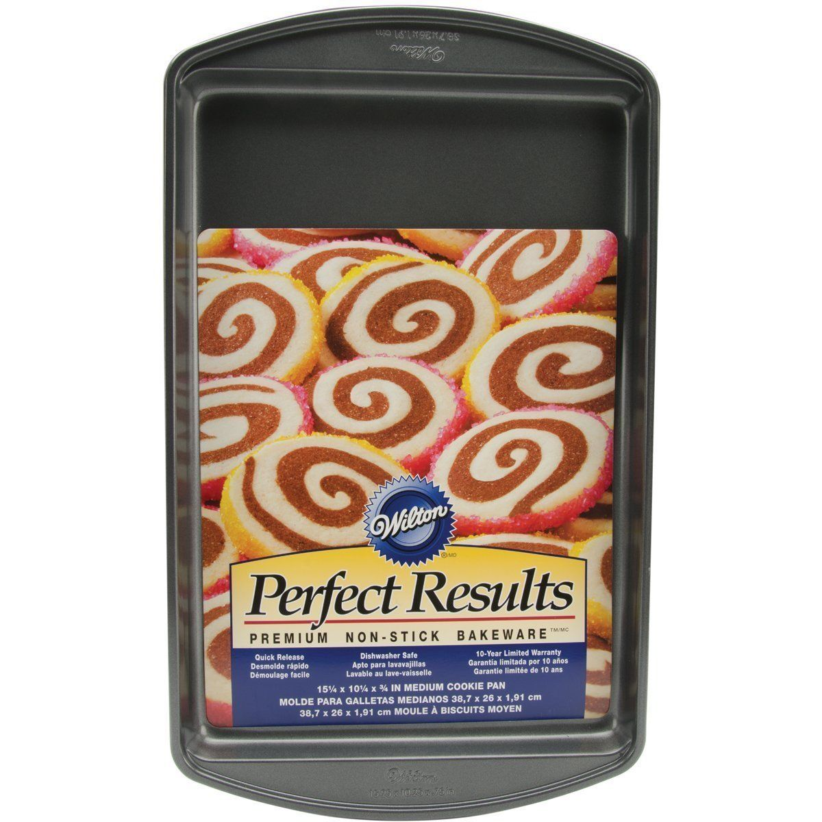 2105-6062, Wilton Perfect Results, Non-Stick Medium Cookie Pan, 15-1 4 X 10-1 4 by
