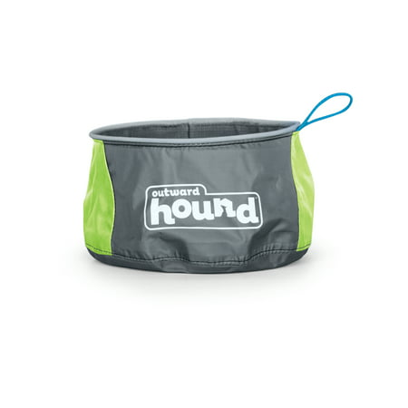 Outward Hound Port-A-Bowl Collapsible Travel Dog Food and Water Bowl ()