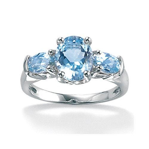 Palm Beach Jewelry Oval Cut Aquamarine Ring
