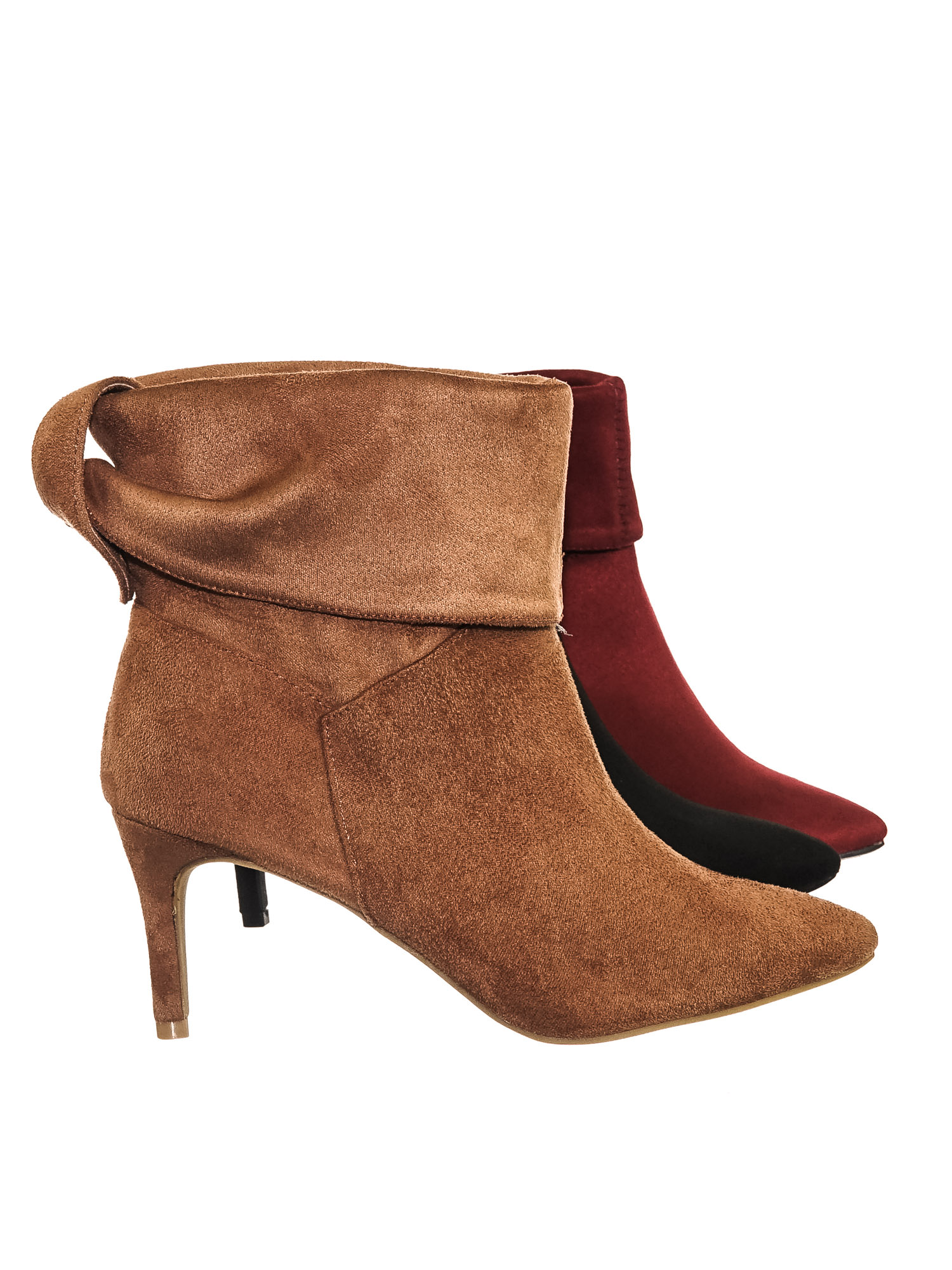 Longing15 by Bamboo, Pointed Toe Slouch Dress Boots w Buckled Flap