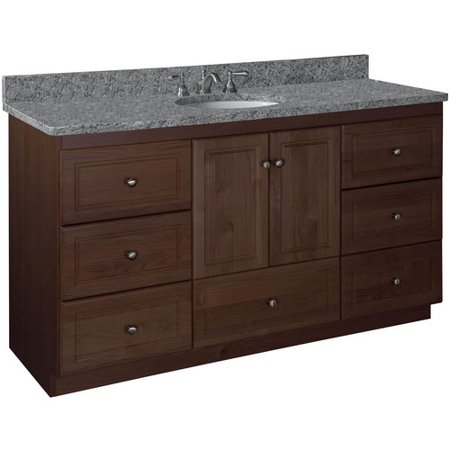 Strasser Woodenworks Simplicity 60 39 39 Double Bowl Bathroom Vanity Base