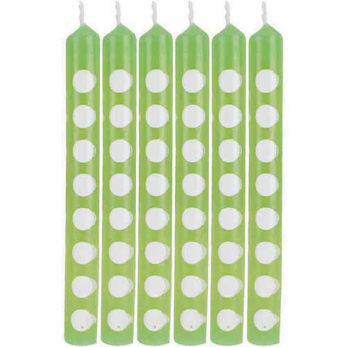 Creative Converting Safari Adventure Fresh Lime and White Paper Straws