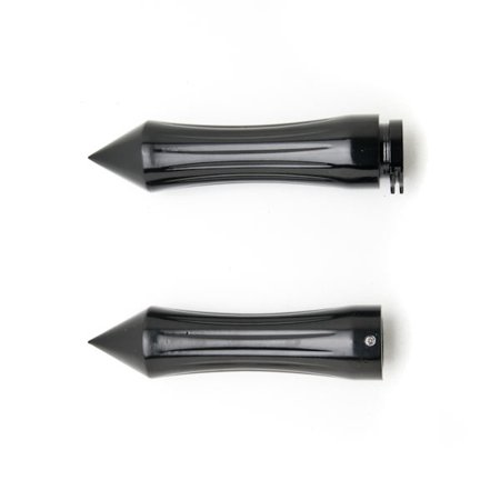 Motorcycle Hand Grips 1 Inch Handlebar Bars Pair For Suzuki Marauder VZ 800 1600 - image 2 de 4