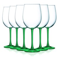 Smoke Gray Bottom Accent 19 oz Cachet Wine Glasses - Set of 6 by TableTop King - Additional Vibrant Colors Available