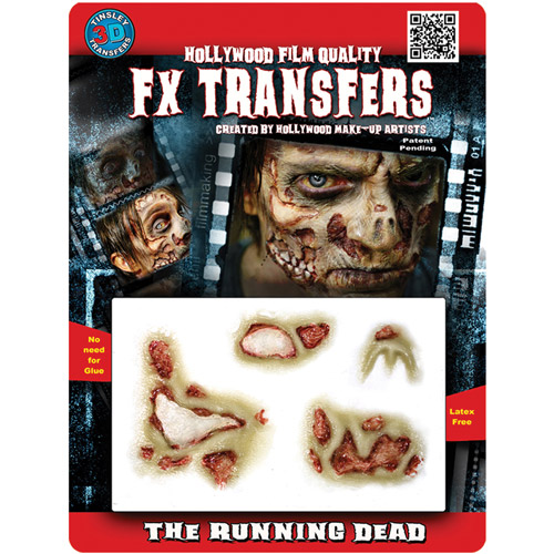Halloween Professional 3D Tattoo, The Running Dead