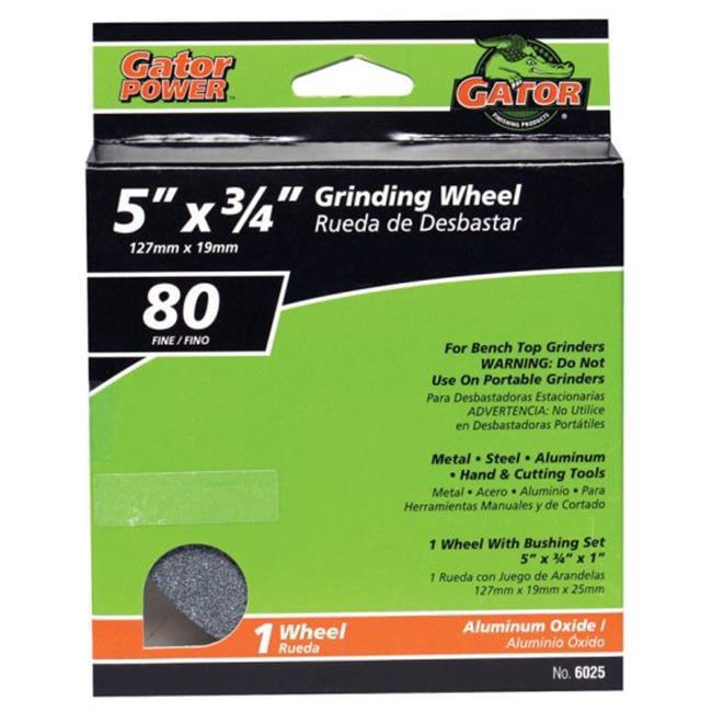 Grinding Wheel,5in.Dia,AO,100//120G,Brown NORTON 07660788205