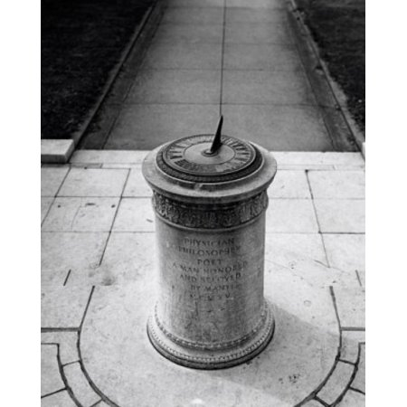 High angle view of a sundial in a park Oliver Wendell Holmes Memorial Sundial Esplanade Boston Massachusetts USA Canvas Art -  (18 x 24)