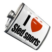 NEONBLOND Flask I Love Sled sports