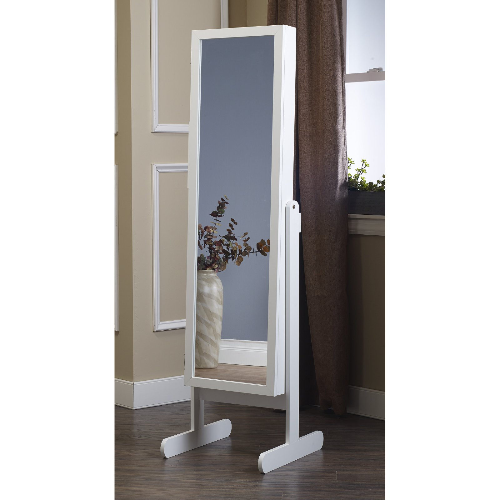 Mirrotek Plaza Astoria Free Standing Jewelry Armoire Cabinet Style Jewelry Armoire With