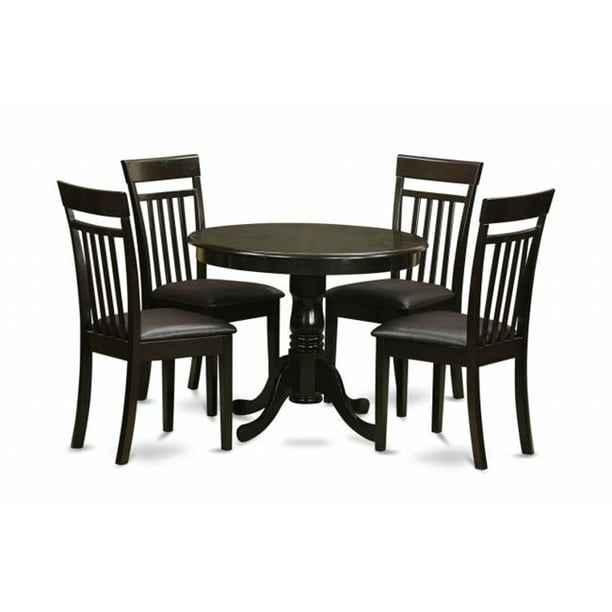 5 Piece Small Kitchen Table And Chairs Set Round Table And 4 Chairs For Dining Room Walmart Com Walmart Com