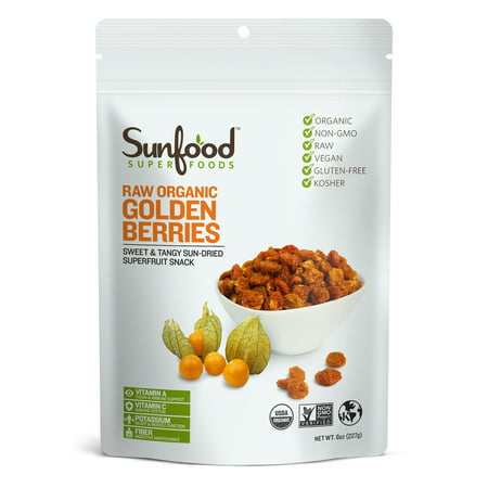 Sunfood Superfoods Organic Golden Berries, 8.0 Oz