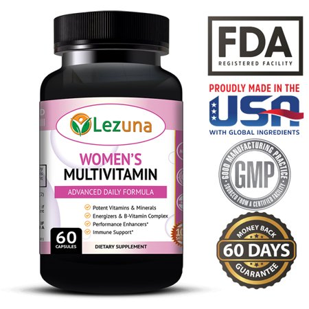Living Multivitamin - Women's Daily Multivitamin/Multimineral with Vitamins and Minerals, Green Tea, Magnesium, Biotin, Zinc, Calcium, Antioxidant for Women, Heart & Breast Health - 60 Multivitamins