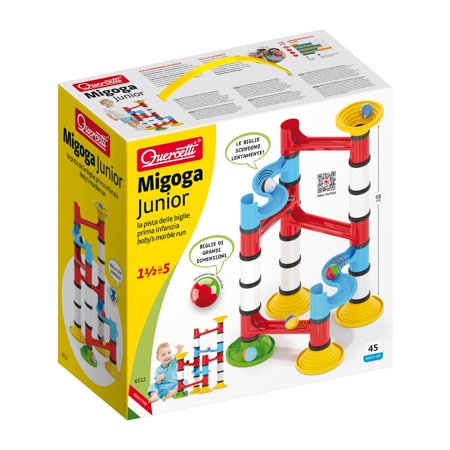 Migoga Junior Marble Run Premium Set- create endless combinations of marble courses that encourage the discovery of STEM principles. (Marble Toy Set)