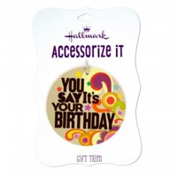 Kole Imports HG899-144 You Say Its Your Birthday Gift Trim Tag, 144 Piece