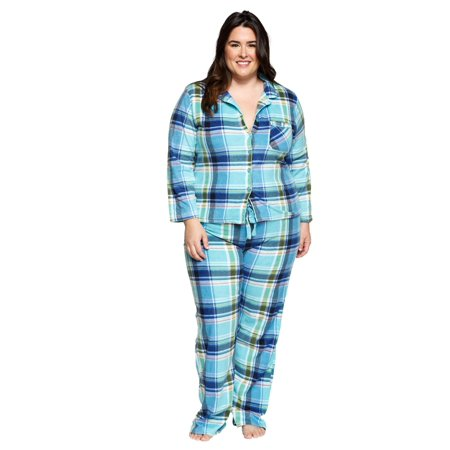 look out for best quality finest fabrics Xehar Women's Plus Size Sleepwear Fleece Plaid Flannel Pajamas Pjs Set (2  Piece Set)