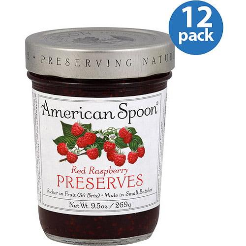 American Spoon Red Raspberry Preserves, 9.5 oz, (Pack of 12)