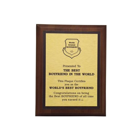 Aahs Engraving Worlds Greatest Plaques (Best Boyfriend In The World, Gold)