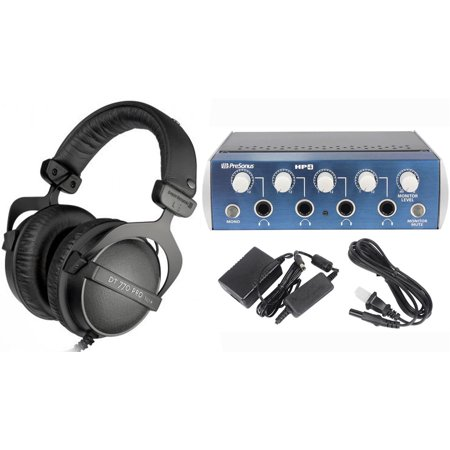 Beyerdynamic DT-770 Pro 32 Ohm + Presonus HP4 4 Channel Headphone Amplifier Amp
