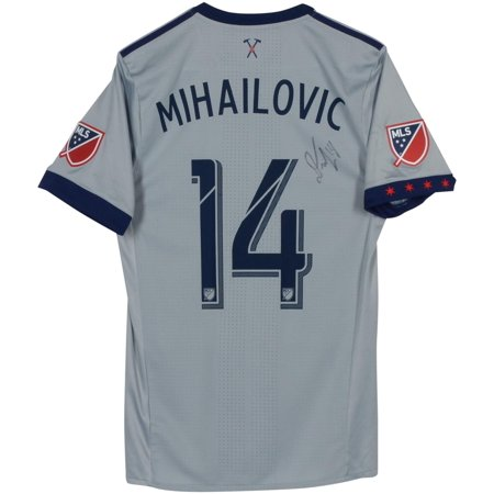 outlet store a8104 4a174 Djordje Mihailovic Chicago Fire Autographed Match-Used Gray #14 Jersey vs.  D.C. United on October 7, 2018 - Fanatics Authentic Certified - Walmart.com