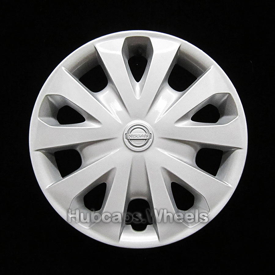 OEM Genuine Nissan Wheel Cover - Professionally Refinished Like New - Versa 15-inch hubcap 2012-2017 - Silver