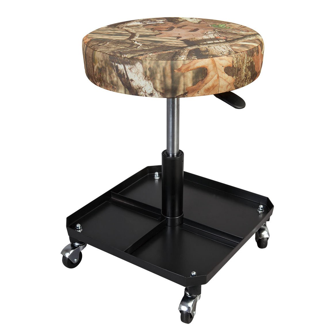 Torin Big Red Rolling Pneumatic Creeper Adjustable Garage Mechanic Stool, Camo