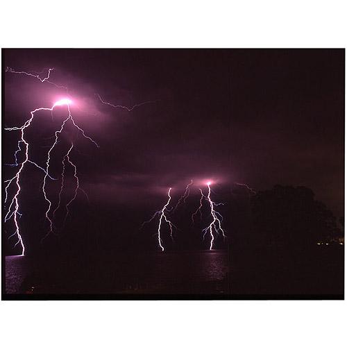 "Trademark Art ""Lake Lightning, 14x19"" by Kurt Shaffer"