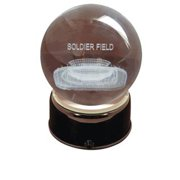 Paragon Innovations NewSoldierLES Soldier Field sub-surface etched in a lit  musical and turning crystal ball