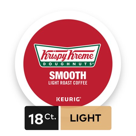 Krispy Kreme Smooth Keurig Single-Serve K-Cup Pods, Light Roast Coffee, 18 Count