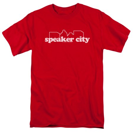 Old School/Speaker City Logo S/S Adult 18/1 Red Par148](Halloween City Logo)