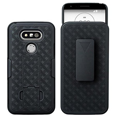 LG G5 Case, Rotating Swivel Belt Clip Slim Holster Shell Combo Case Cover [Kickstand Feature] for LG G5 - (Best Case For The Lg G5)