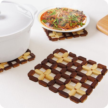 Bamboo Hot Pad Cup Dish Plate Holder Trivet Heat Pad Kitchen Accessories](Heat Dish Costco)