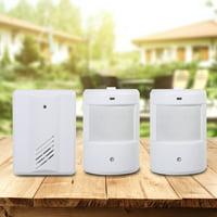 Motion Sensor Wireless Alert Secure System Doorbell Alarm for Home Driveway Patrol Garage White,Home Security Driveway Alarm,Motion Detector