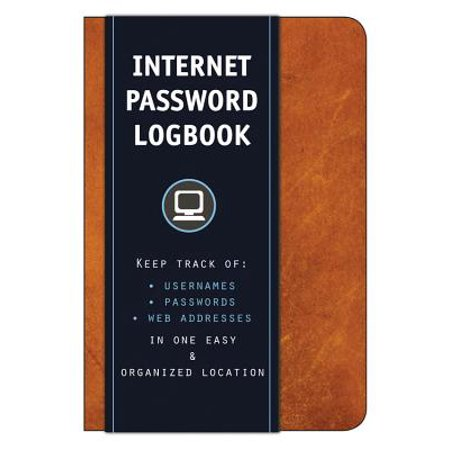 Internet Password Logbook (Cognac Leatherette): Keep Track Of: Usernames, Passwords, Web Addresses in One Easy & Organized Location (Search The Web Right From The Address Bar)