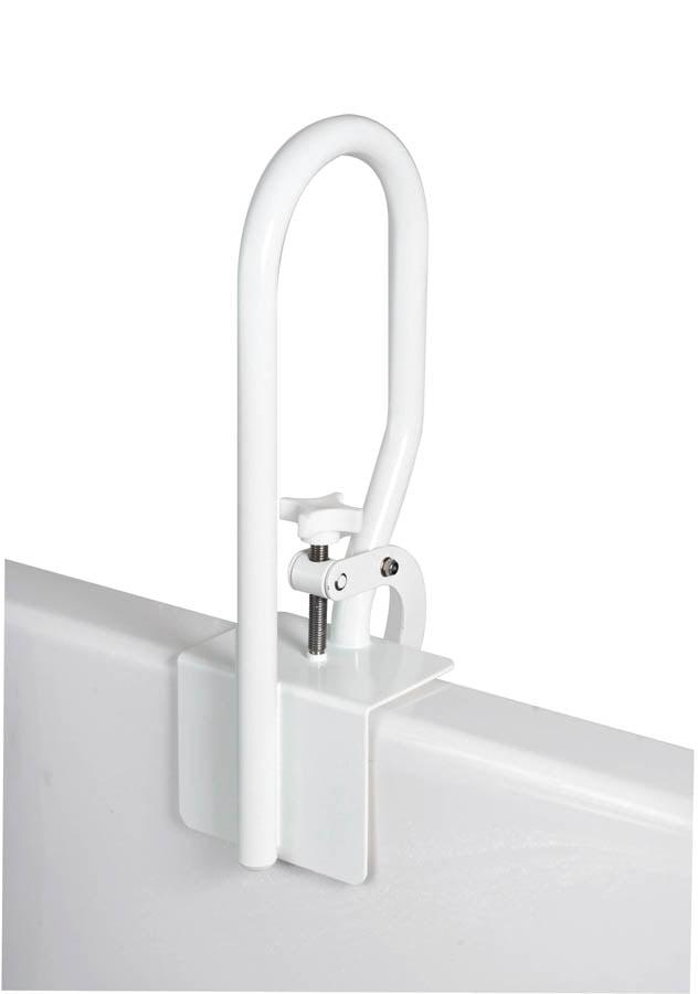 Carex Bath Safety Rail Grab Bar Bathtub Entry Exit And Transfer Assist White Walmart Com Walmart Com