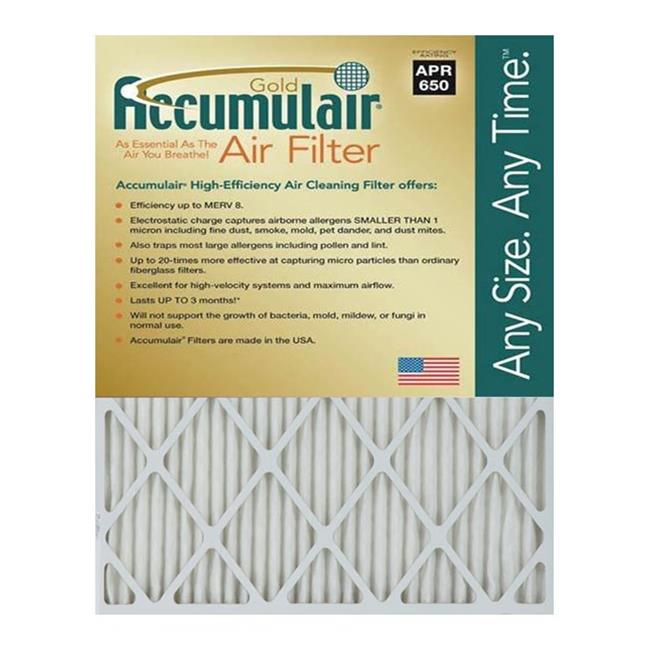 Accumulair FB11. 88X16. 88X0. 5A Gold 0. 5 inch Filter,  Pack Of 4
