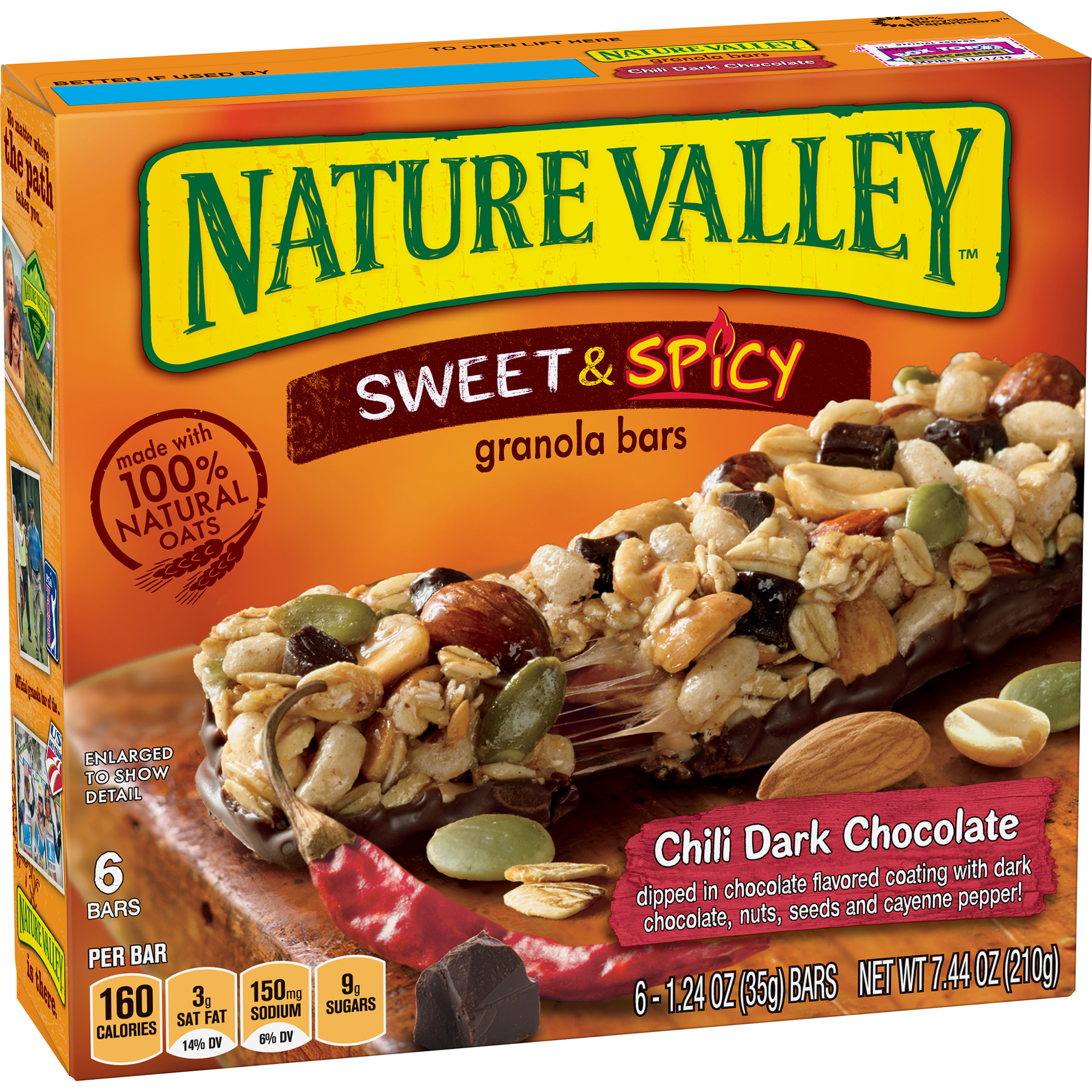 Nature Valley Granola Bars Sweet & Spicy Chili Dark Chocolate 6 Count