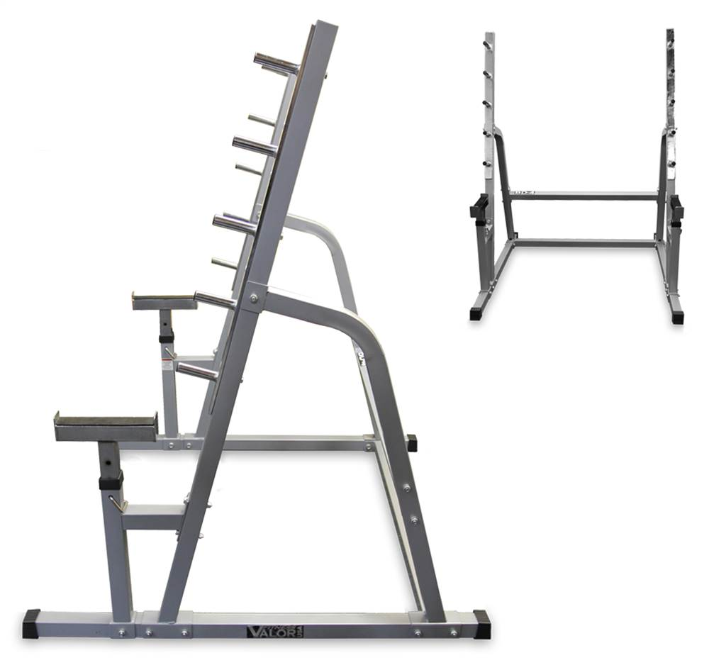 Squat Rack Bench Part - 18: 5 Welded Bar Safety Squat Rack W Bench Combo - Walmart.com