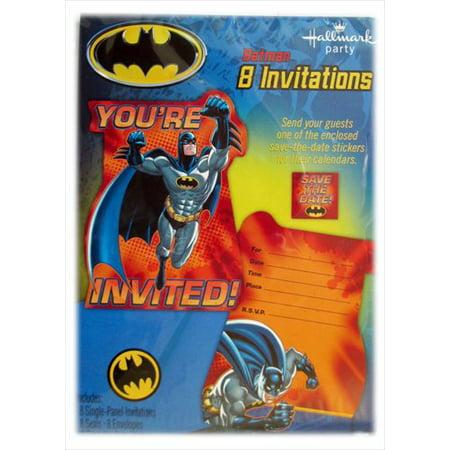 - Batman 'Heroes and Villains' Invitations w/ Env. (8ct)