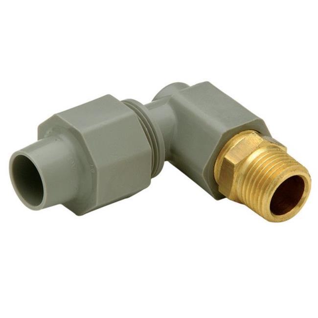 QAEA22MGR 0.38 x 0.38 in. 90 deg Male Elbow Adapter - image 1 of 1