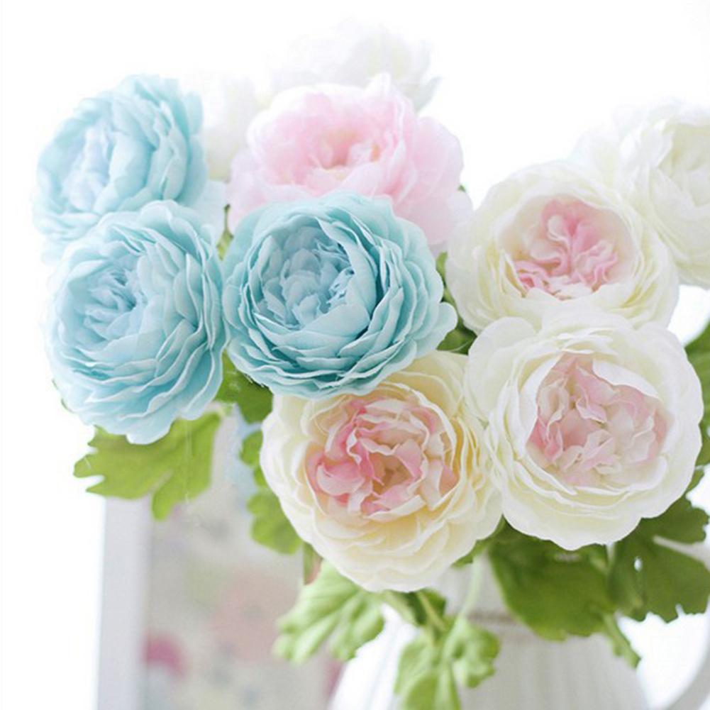HiCoup 1 Pc Artificial Fake Peony Flower Home Room Shop Wedding Party Garden Decor