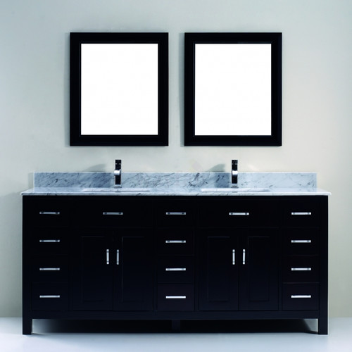 Bauhaus Bath Celize 75'' Double Bathroom Vanity Set with Mirror