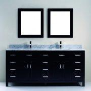 Bauhaus Bath Celize 75'' Double Bathroom Vanity Set with Mirror