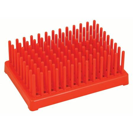 Dry Test Tube Rack (Red Plastic Test Tube Peg Rack Holds 96 13mm Test Tubes - Eisco Labs )