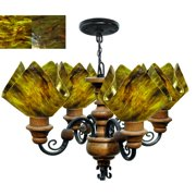 Jezebel Gallery Signature 4 Light Flame Vineyard Chandelier