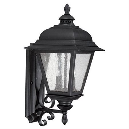 Brookwood Collection - Brookwood Energy Star Outdoor Wall Lantern in Black - Bulb Type: Incandescent